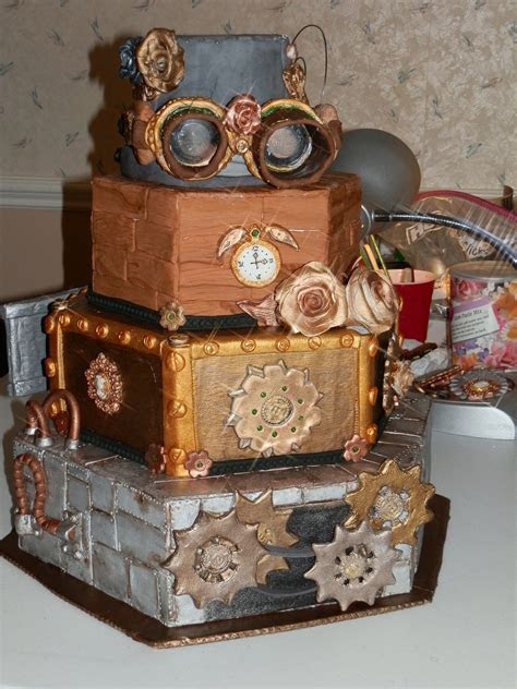 Steampunk Cake   CakeCentral.com