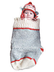 Sock Monkey Cocoon & Hat