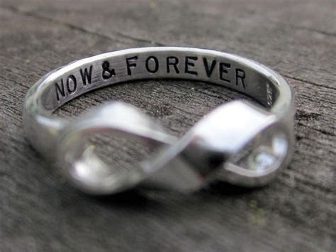 Handmade Infinity Ring With Custom Message by Donna Okino