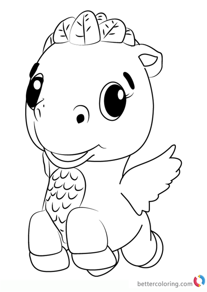 Cloud Ponette From Hatchimals Coloring Pages Free Printable