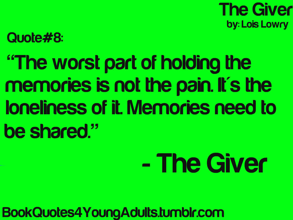 The Giver Quotes Ssquoteorg