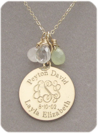 Personalized Round Family Necklace