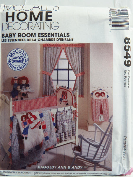 McCall's 8549 Raggedy Ann & Andy™ Baby Room Essentials ...