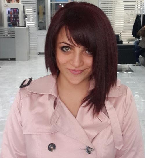 Side-Swept Bangs On Medium-Length Hair
