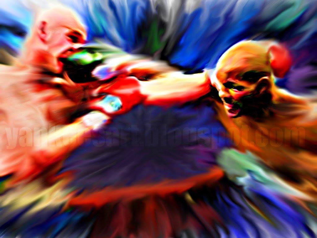 The Executioner Bernard Hopkins Kelly Pavlik digital painting, artwork, art, boxing, world champion