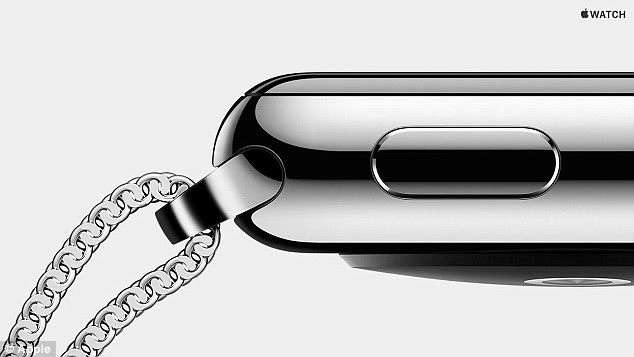 A series of sensors in the Apple Watch can read a user's heart rate, and it uses the GPS from a connected iPhone to track movement. There are two sizes of watch, but three finishes - including Apple Watch Edition in 18-karat gold, Apple Watch silver (pictured), and Apple Watch Sport