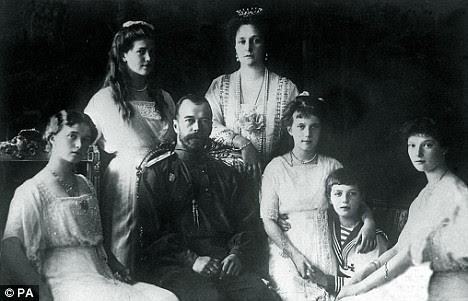 img TSAR NICHOLAS II, Tsaritsa Alexandra, Crown Prince Alexei, and Grand duchesses Olga, Tatiana, Maria, and Anastasia