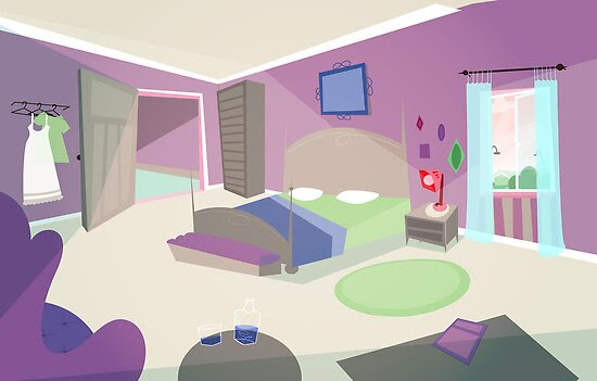 quot;The bedroom 39;50s cartoon stylequot; by SenPowell  Redbubble