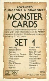 Monster Cards: Set 1