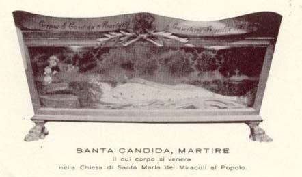 Image result for SANTA CANDIDA MARTIRE NAPOLES santa maria del milagro roma