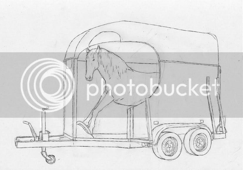 croquis de dessin contemporain complètement déconant où un cheval circule en van pierre guilhem pierre-guilhem, croquis de dessin contemporain complètement déconant où un cheval circule en van pierre guilhem pierre-guilhem