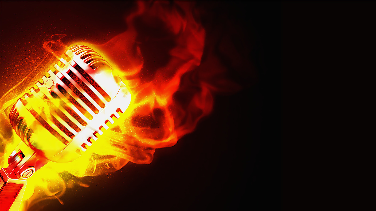 Musicmusician Images Flaming Microphone Hd Wallpaper And Background