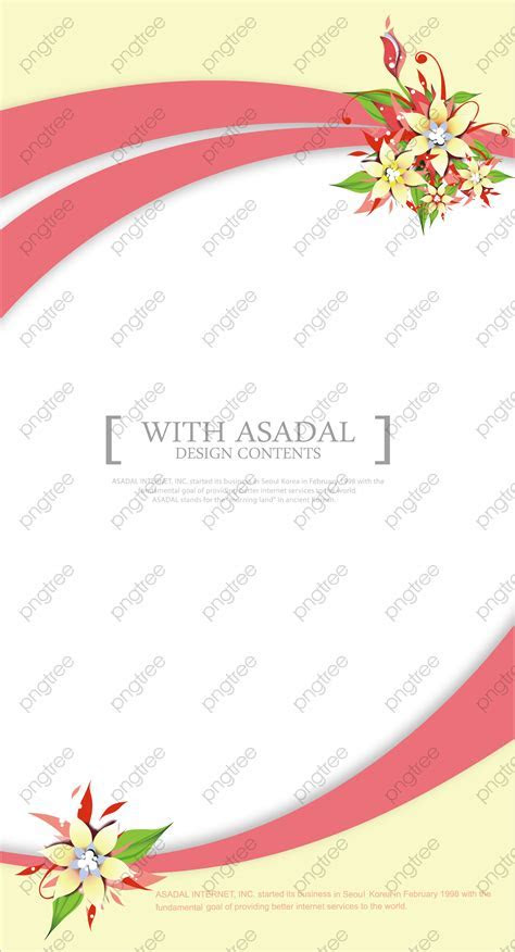 Transparent fashion flowers wedding invitation card design