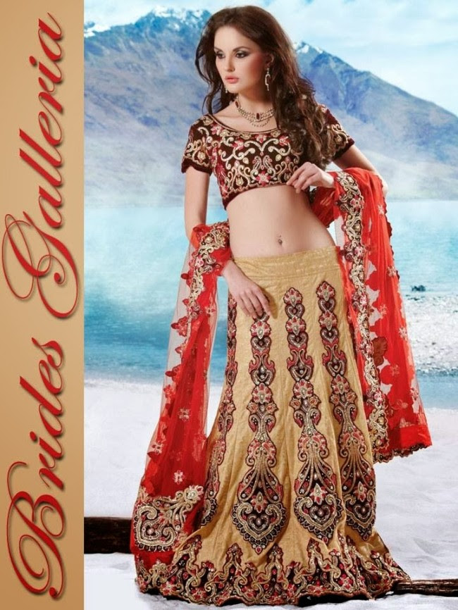 Indian-Bridal-Wedding-Lehangas-Velvet-Embroidered-Blouse-Fish-Cut-Lehenga-by-Brides-Galleria-2