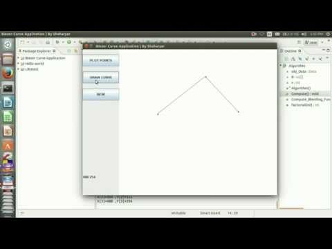 Bezier Curve Algorithm in C   OpenGL for n control points ~ all