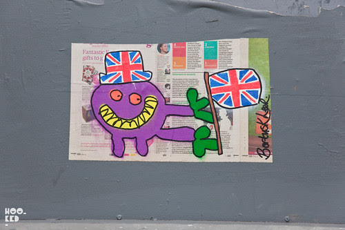 Diamond Jubilee Street Art in London by artist Bortusk Leer