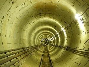 Tunnel of Thessaloniki's Metro.