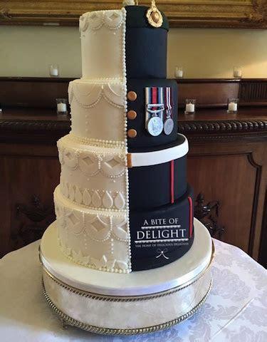 Half Bride, Half Royal Marine Wedding Cake   A Bite of Delight