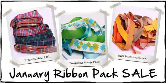january ribbon pack sale