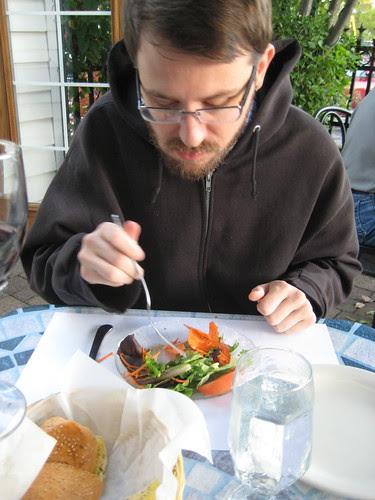 Craig and salad