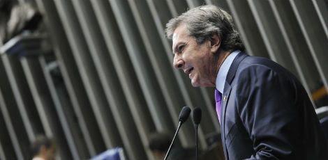 Durante o discurso, Collor acusou o Janot, que concorre à reeleição ao cargo, de usar o vazamento seletivo de informações sigilosas da investigação como parte de uma