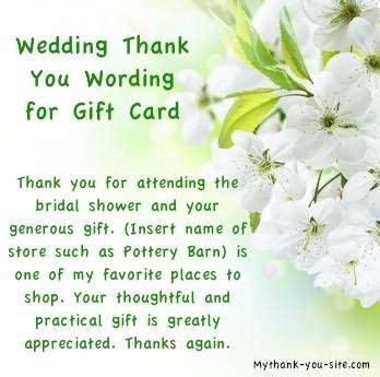 Bridal Shower Thank You Notes and Card Wording   Wedding