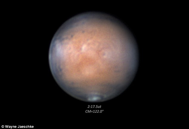 Themis on Nasa's Mars Odyssey orbiter will be used to look at the area which has the cloud