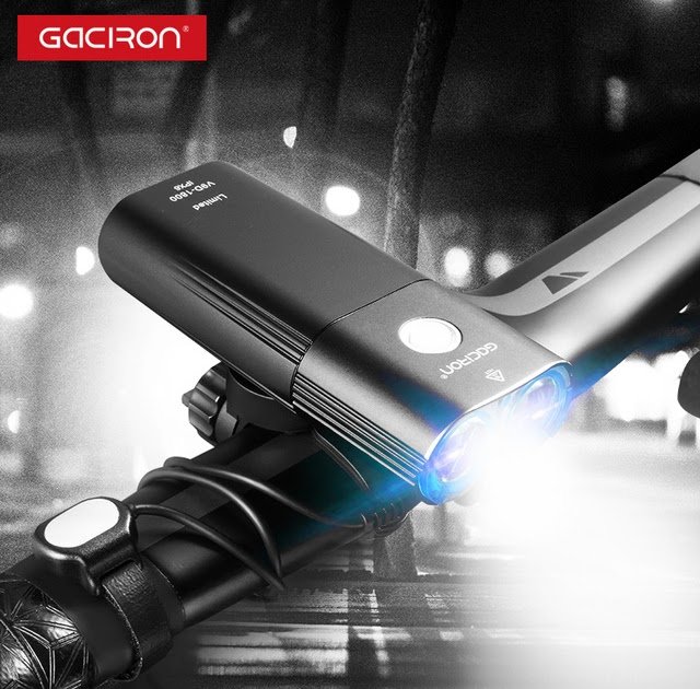 New GACIRON V9D 1600 USB Rechargeable Bicycle Front Flashlight Remote Switch