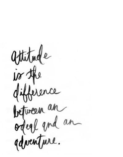 attitude.