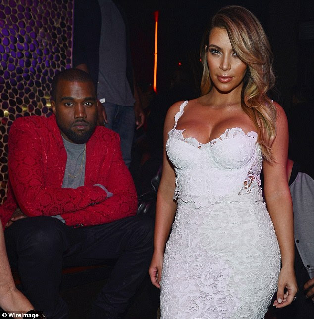 Extravagant planning: Kanye West, pictured in Las Vegas on Saturday, plans fighter jets at next summer's wedding to to Kim Kardashian