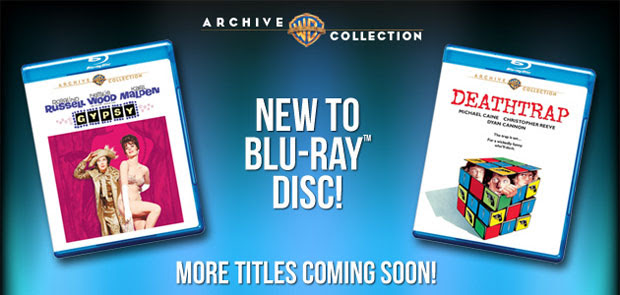 Warner Archive ondemand disc service kicks off Bluray availability with Gypsy, Deathtrap, promises to entertain you