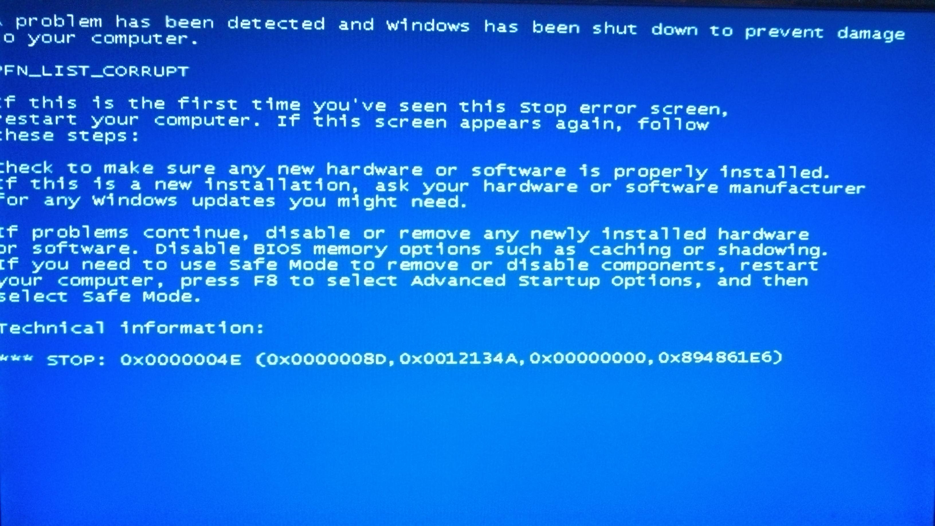 Image result for bluescreen