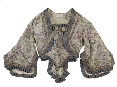 Bodice c. 1861-1863, in the Museum of London