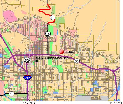 San Bernardino Gang Map San Bernardino Ca Zip Code Map | Time Zones Map