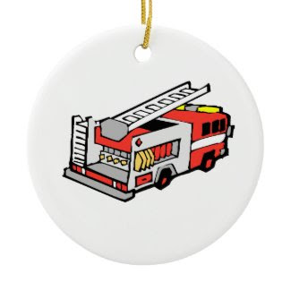 Red Fire Truck ornament