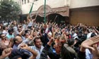 Coptic Christian youths protest