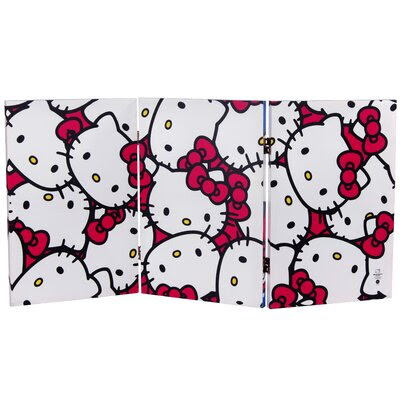 Oriental Furniture Tall Double Sided Hello Kitty Bicycle Canvas ...