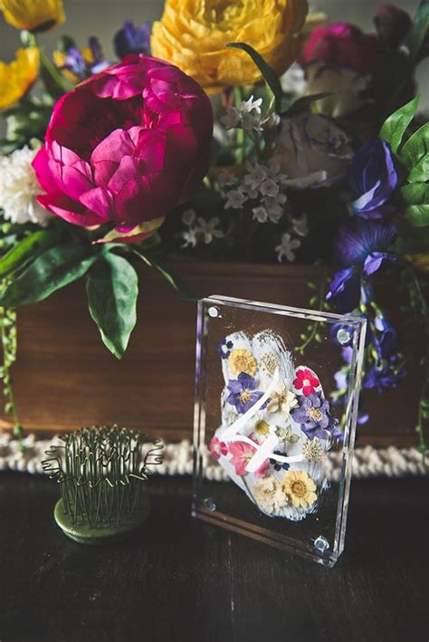 diy pressed flower table numbers aisle society