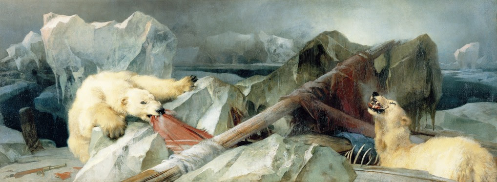 """Edwin Landseer, """"Man Proposes, God Disposes"""" (1864), oil painting (via Wikimedia)"""
