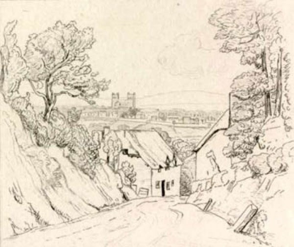 Exeter from the Oakhampton road/ drawn by F. Stevens; etchd. & pubd. by F. C. Lewis, 1827.