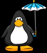 Cloudy Umbrella from a Player Card