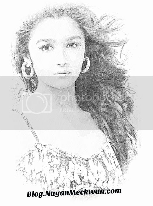 Alia Bhatt Beautiful Sketch Photo