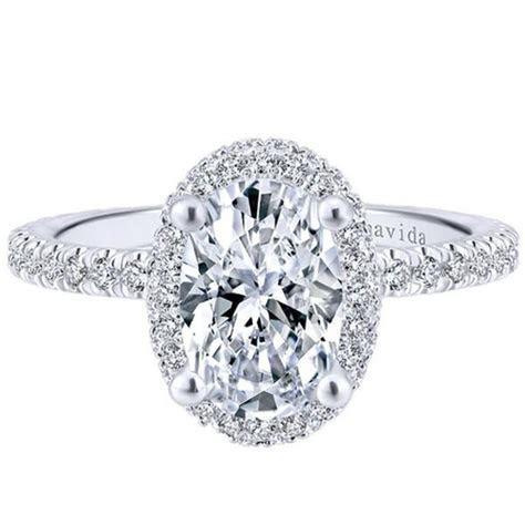 "Gabriel Amavida ""Mary"" Oval Double Halo Diamond Engagement"