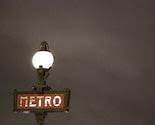 Paris Photo - Metro Sign at the Pont Neuf at Midnight