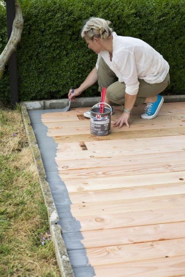 Repeindre Une Terrasse En Bois Côté Maison