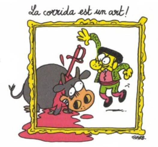 Charlie Hebdo Bullfighting Art by Charb