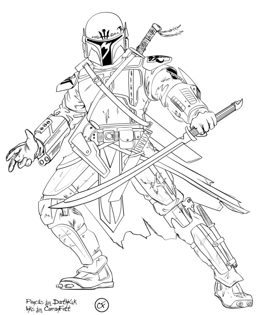Clone Trooper Coloring page | Republic Commando/Mandalorians ... | 1024x834