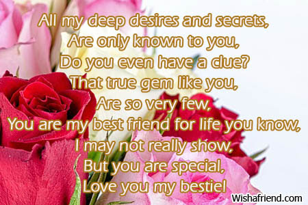 You Know It All Poem For Best Friends