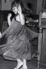 Olivia Spinning in Costume