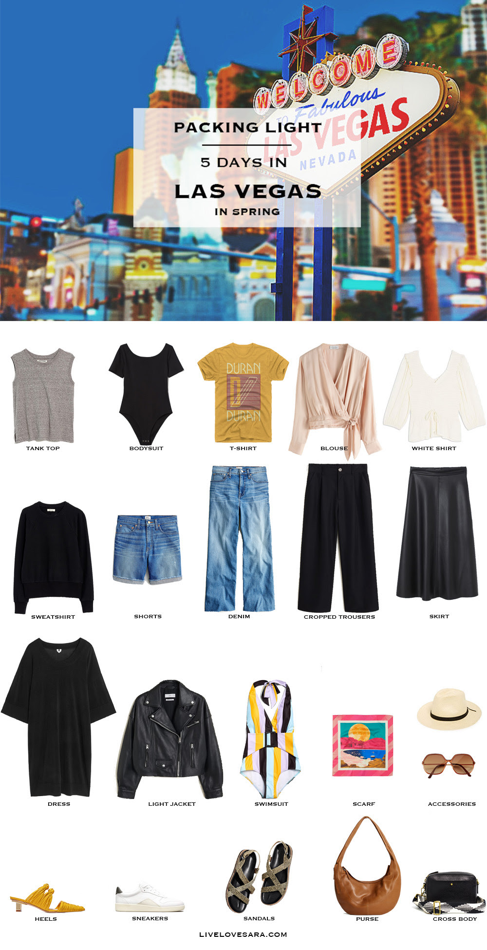 What to Pack for Las Vegas in Spring - livelovesara